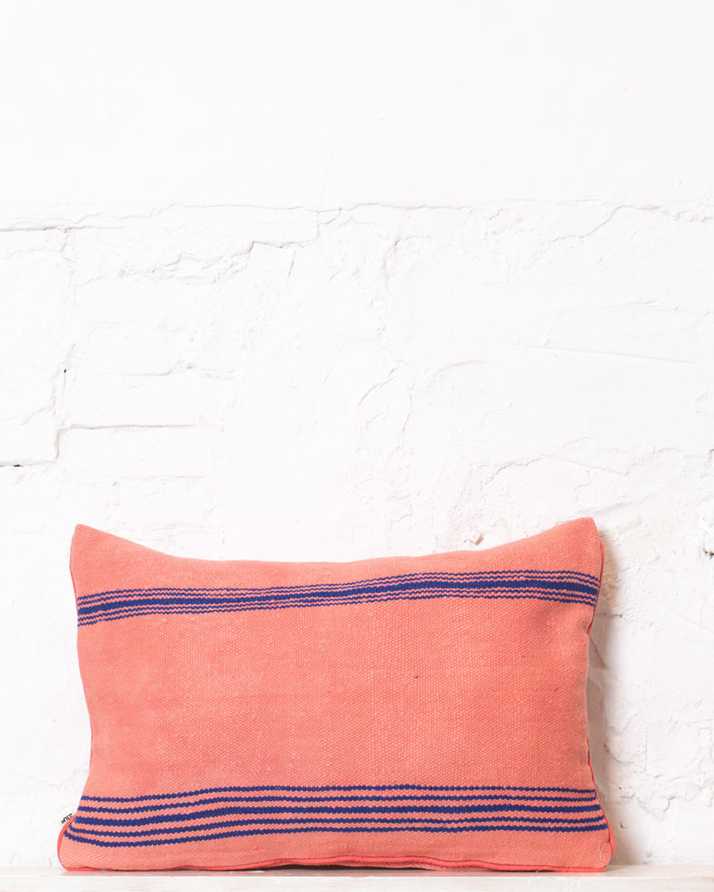 Authentic striped Berber pillow from Morocco 306
