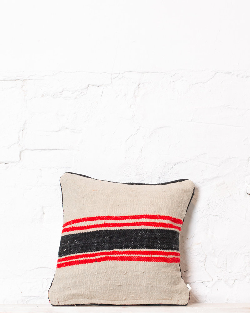 Authentic striped Berber pillow from Morocco 321