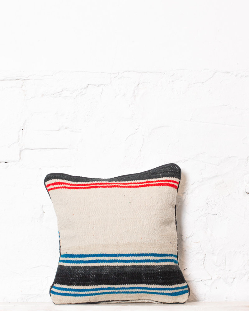 Authentic striped Berber pillow from Morocco 332