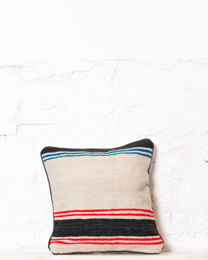 Authentic striped Berber pillow from Morocco 333