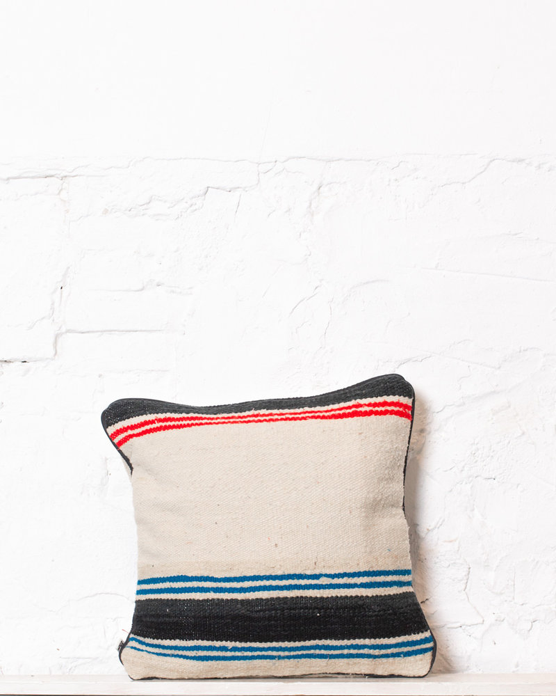 Authentic striped Berber pillow from Morocco 342