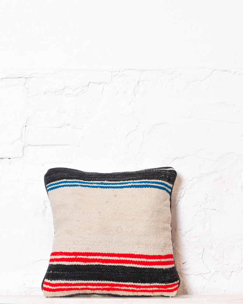 Authentic striped Berber pillow from Morocco 345