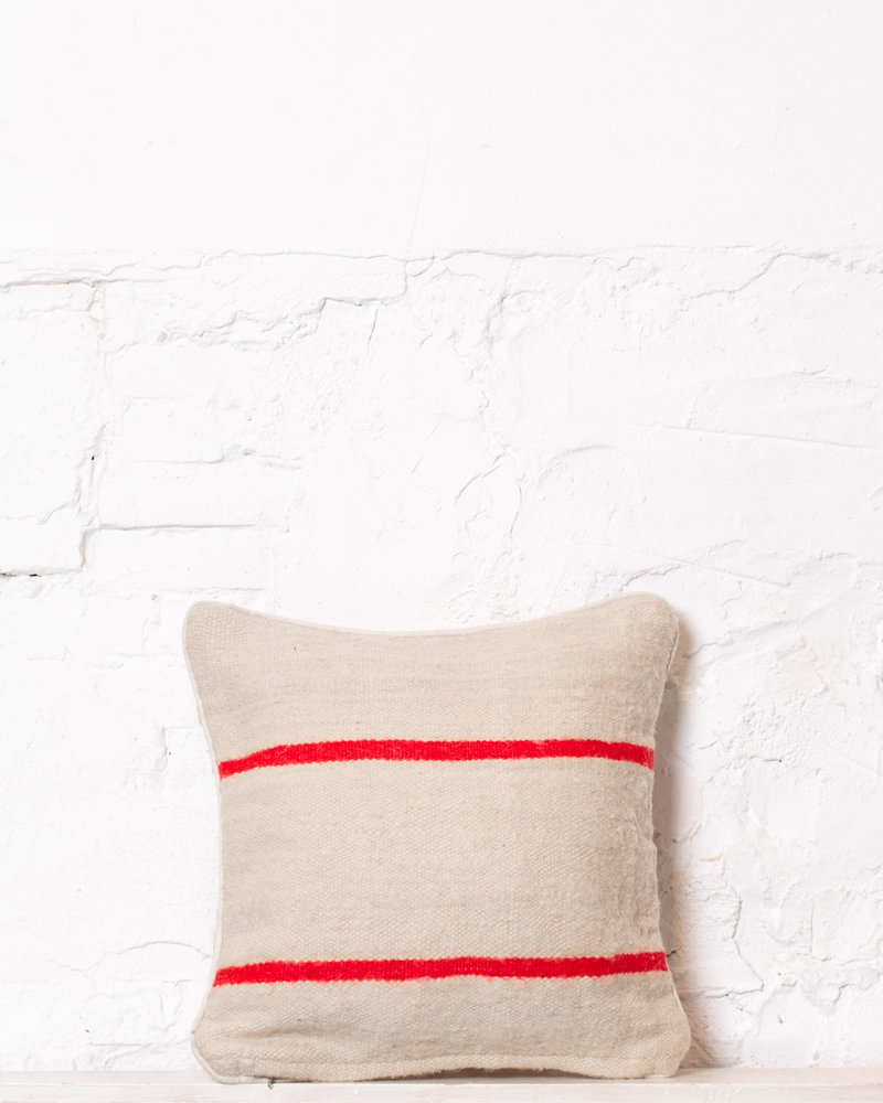 Authentic striped Berber pillow from Morocco 346