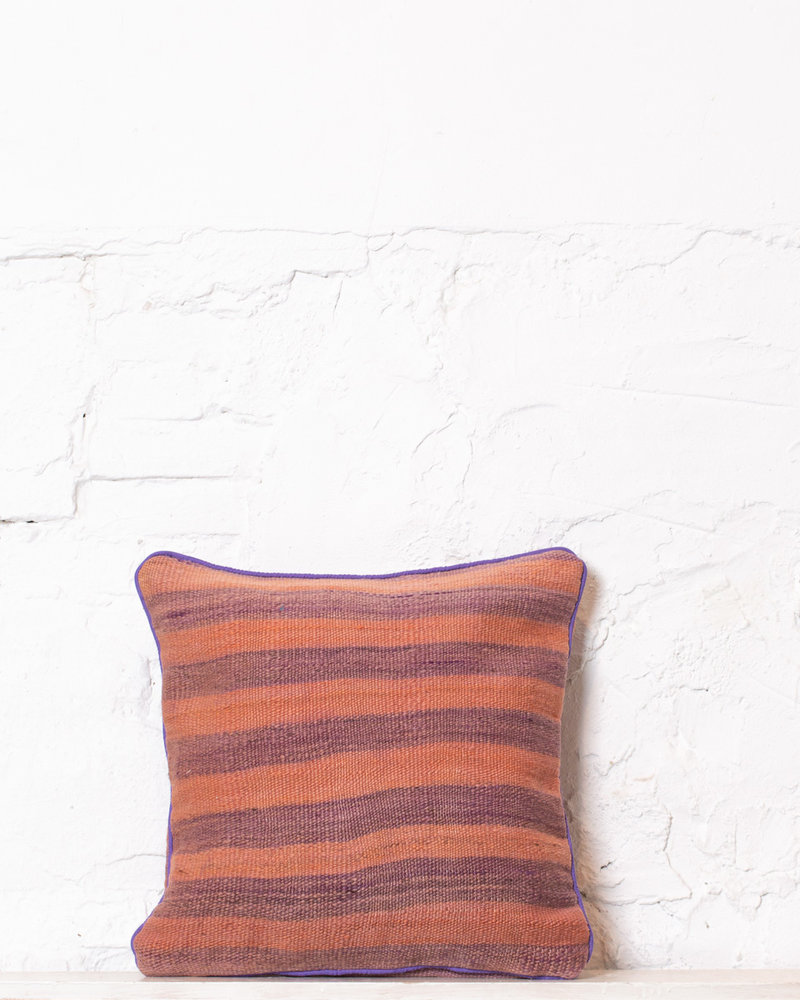 Authentic striped Berber pillow from Morocco 348
