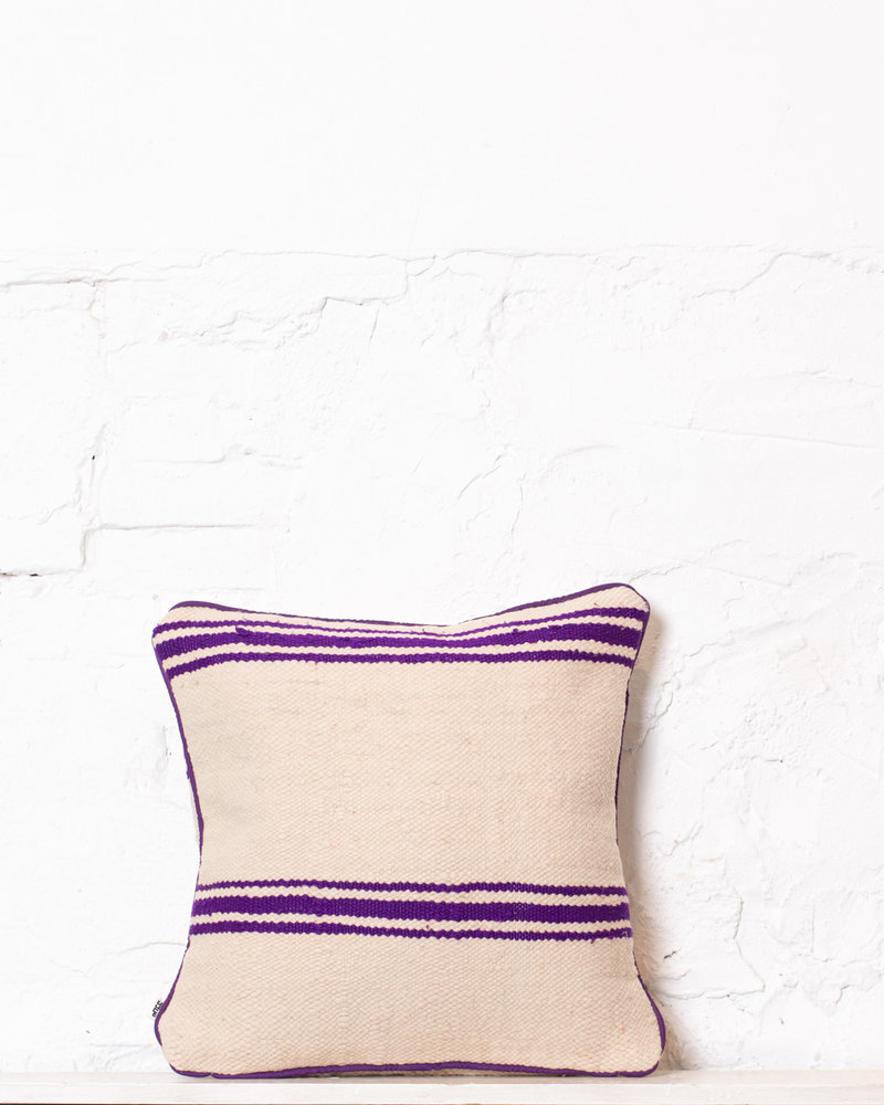 Authentic striped Berber pillow from Morocco 349