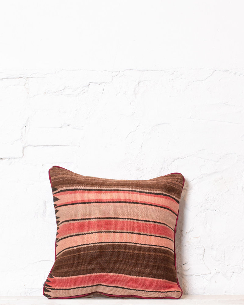 Authentic striped Berber pillow from Morocco 355