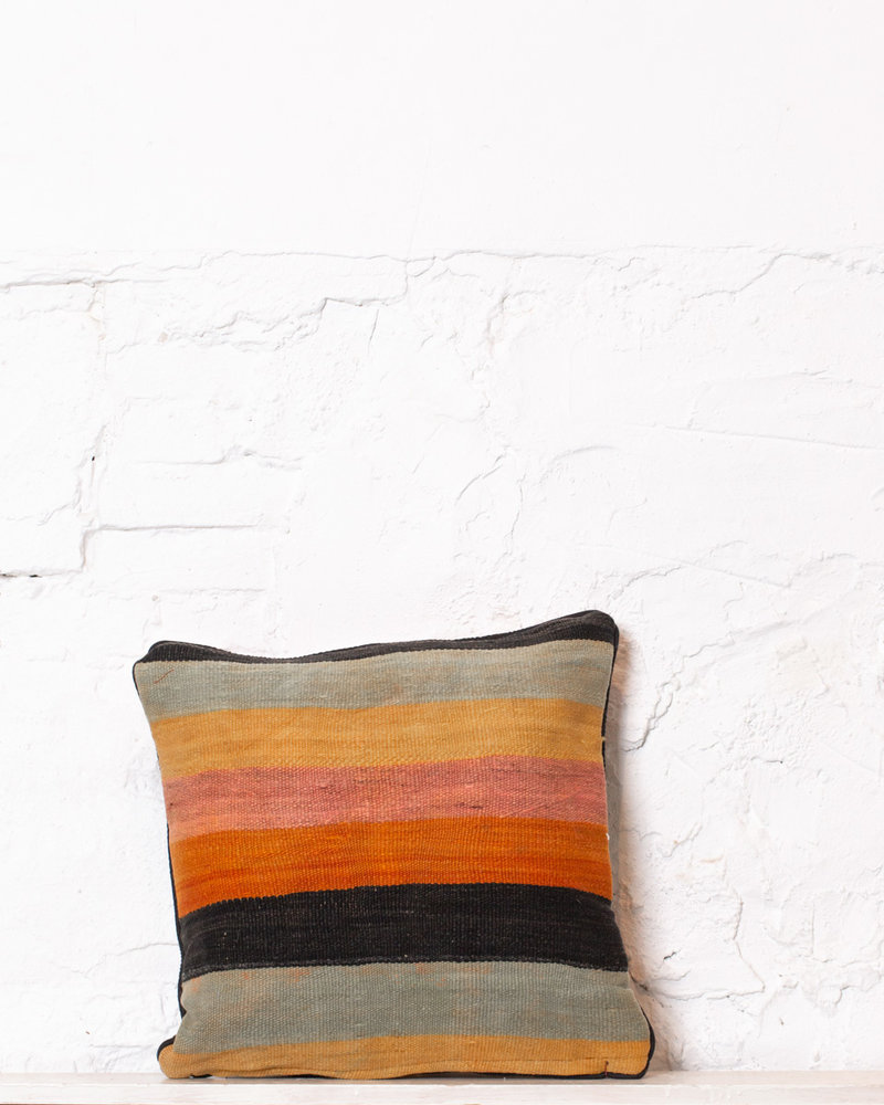 Authentic striped Berber pillow from Morocco 356