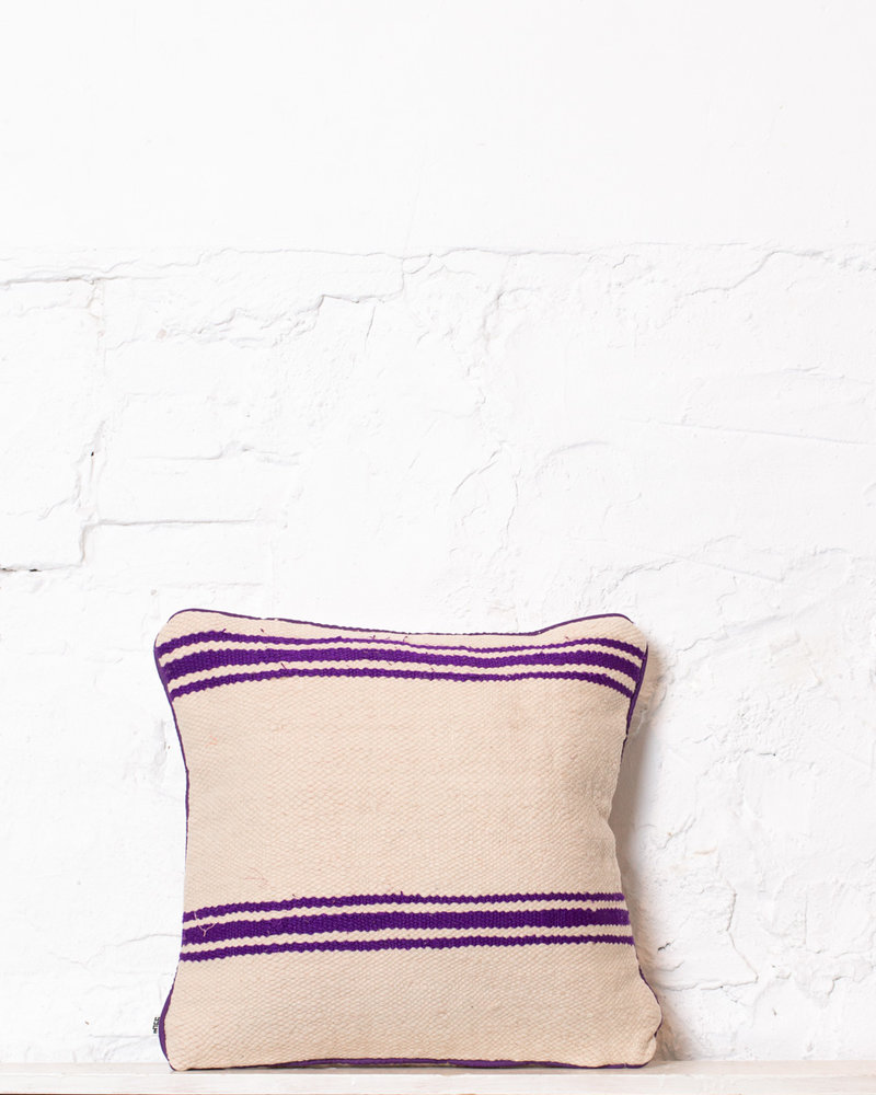 Authentic striped Berber pillow from Morocco 357