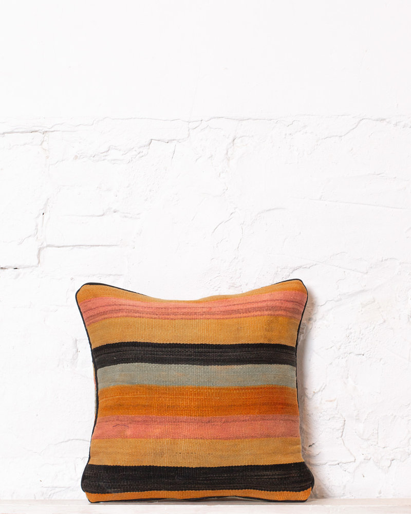 Authentic striped Berber pillow from Morocco 360