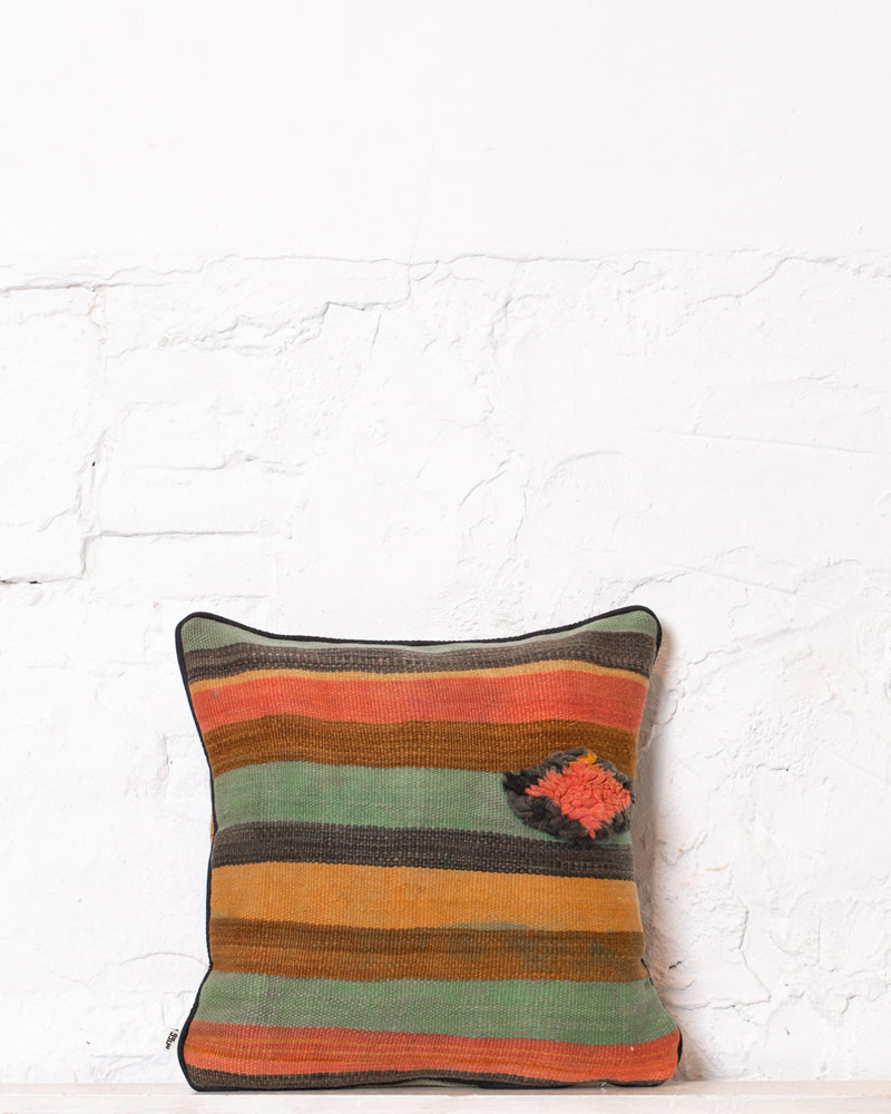 Authentic striped Berber pillow from Morocco 362