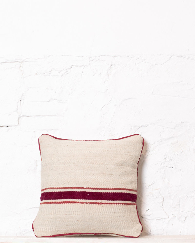 Authentic striped Berber pillow from Morocco 370