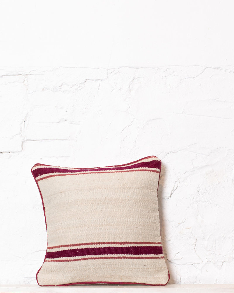 Authentic striped Berber pillow from Morocco 376