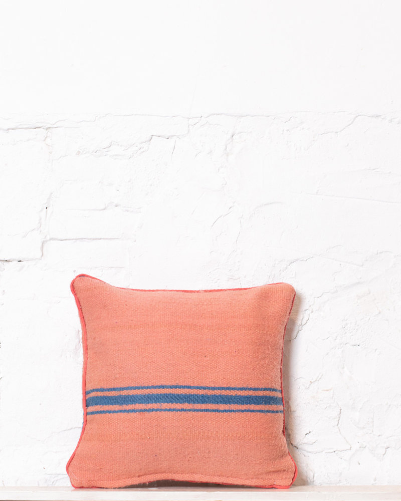 Authentic striped Berber pillow from Morocco 382
