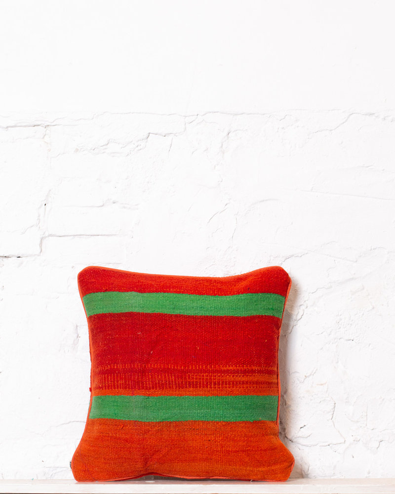 Authentic striped Berber pillow from Morocco 388