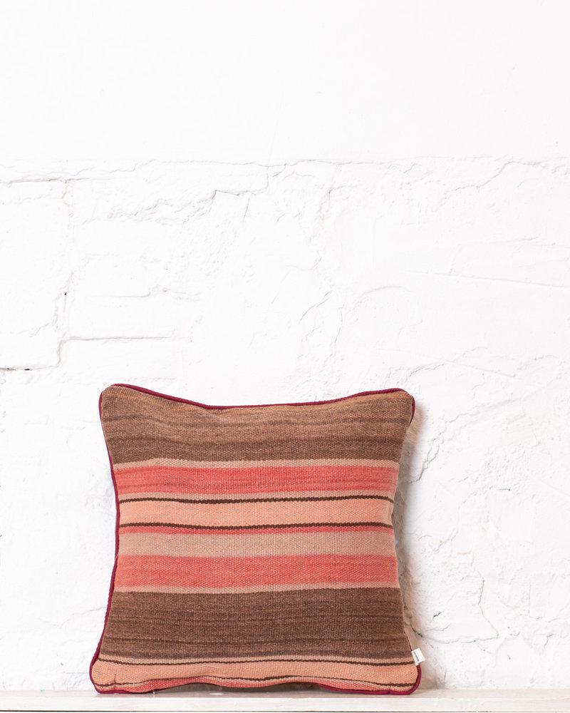 Authentic striped Berber pillow from Morocco 393