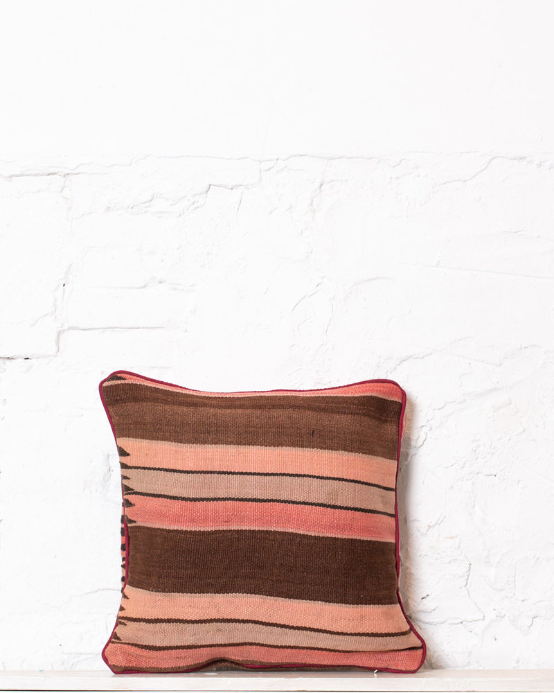 Authentic striped Berber pillow from Morocco 394