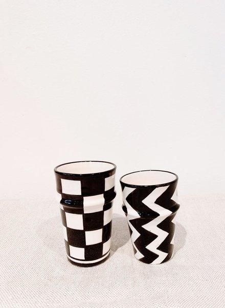 PRE-ORDER Mug -  cubes print - black/white - S