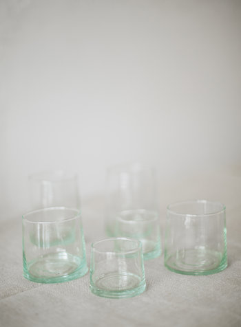 Gerecycled glas - clear