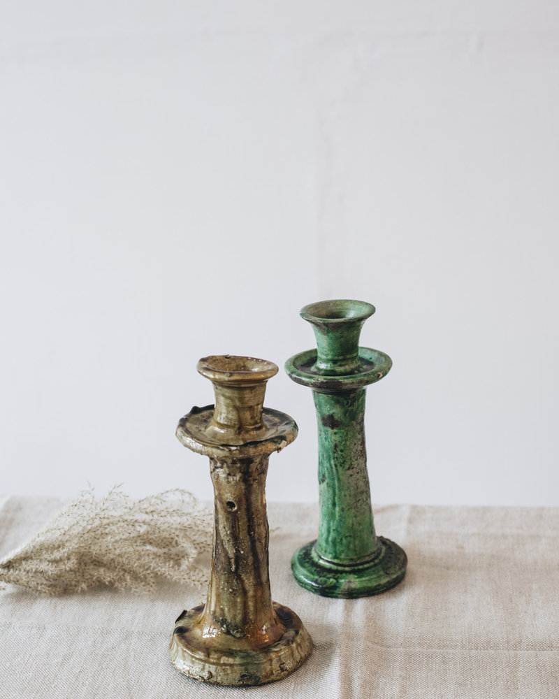 Tamegroute candle holder  - green
