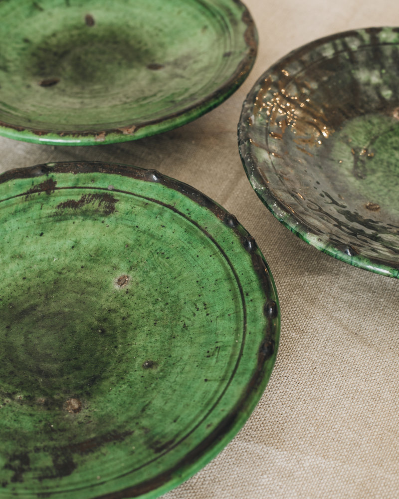 Tamegroute plate - green