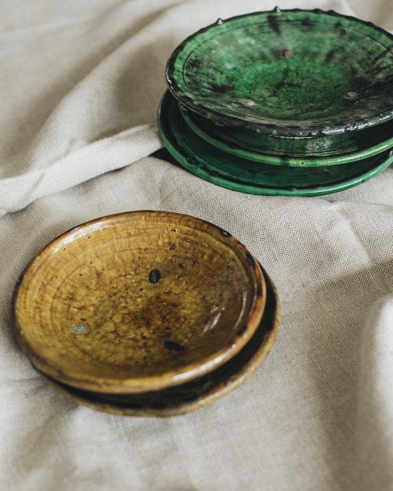 Tamegroute bord - olijfgroen