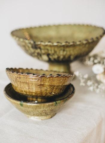 Tamegroute schaal - olijfgroen - S