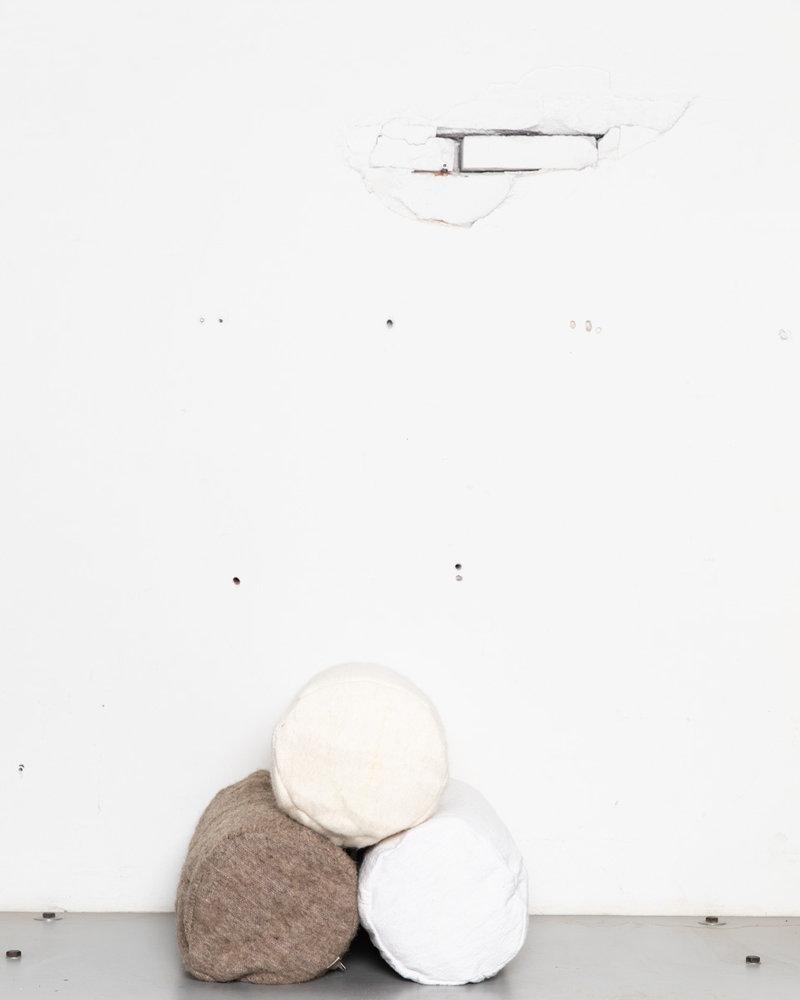 Handgeweven rolkussen katoen