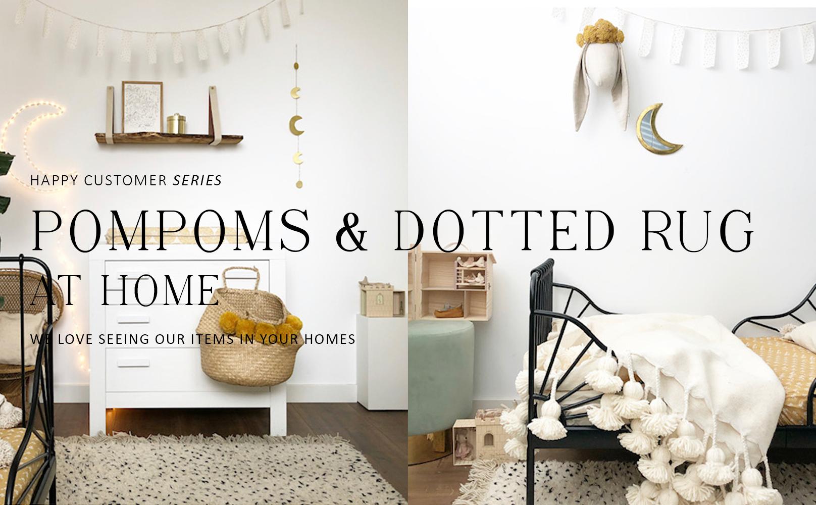 Happy customer series: Pompom deken & stippen vloerkleed