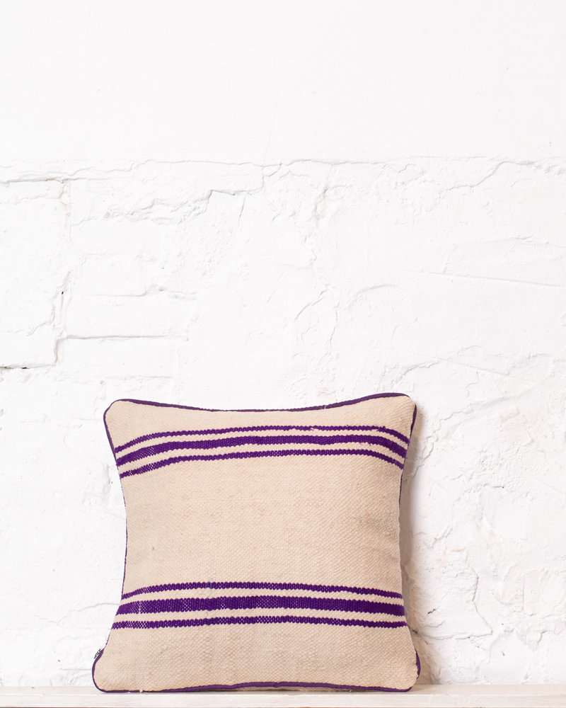 Authentic striped Berber pillow from Morocco 344