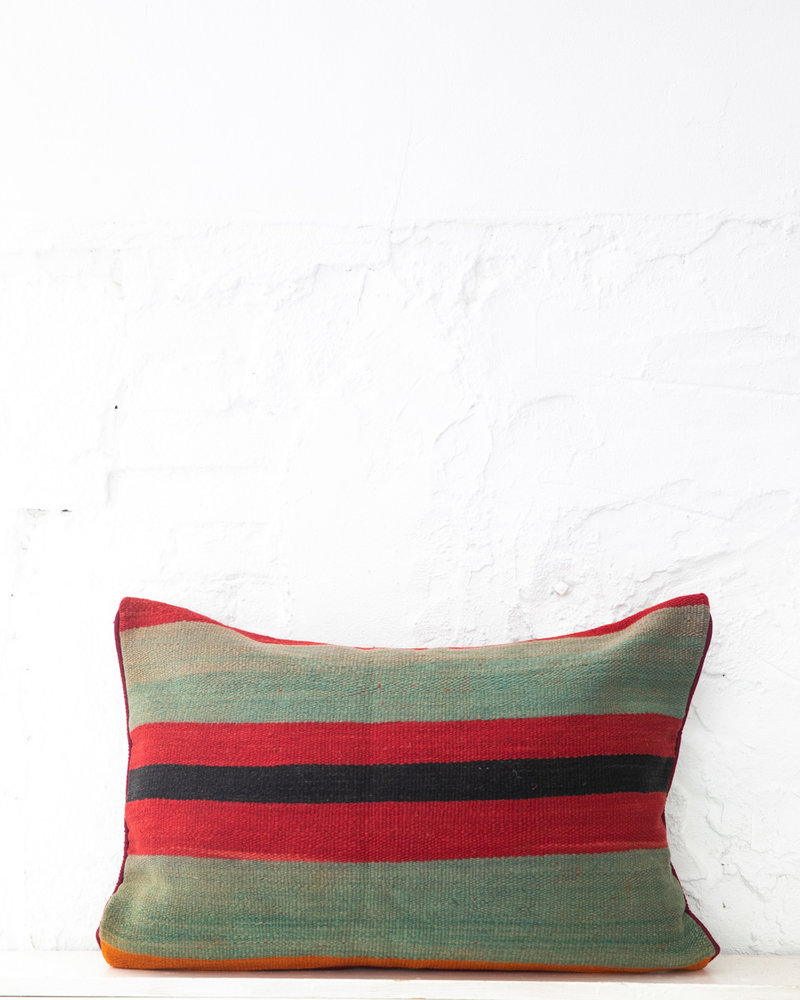 Authentic striped Berber pillow from Morocco XL 440
