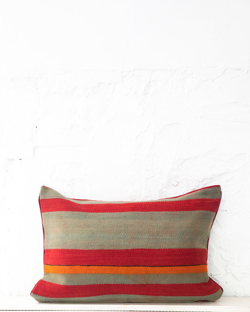 Authentic striped Berber pillow from Morocco XL 438