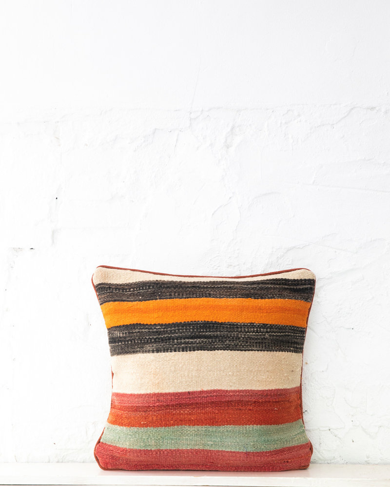Authentic striped Berber pillow from Morocco 406