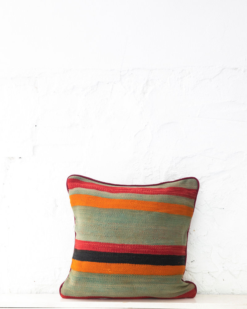 Authentic striped Berber pillow from Morocco 409