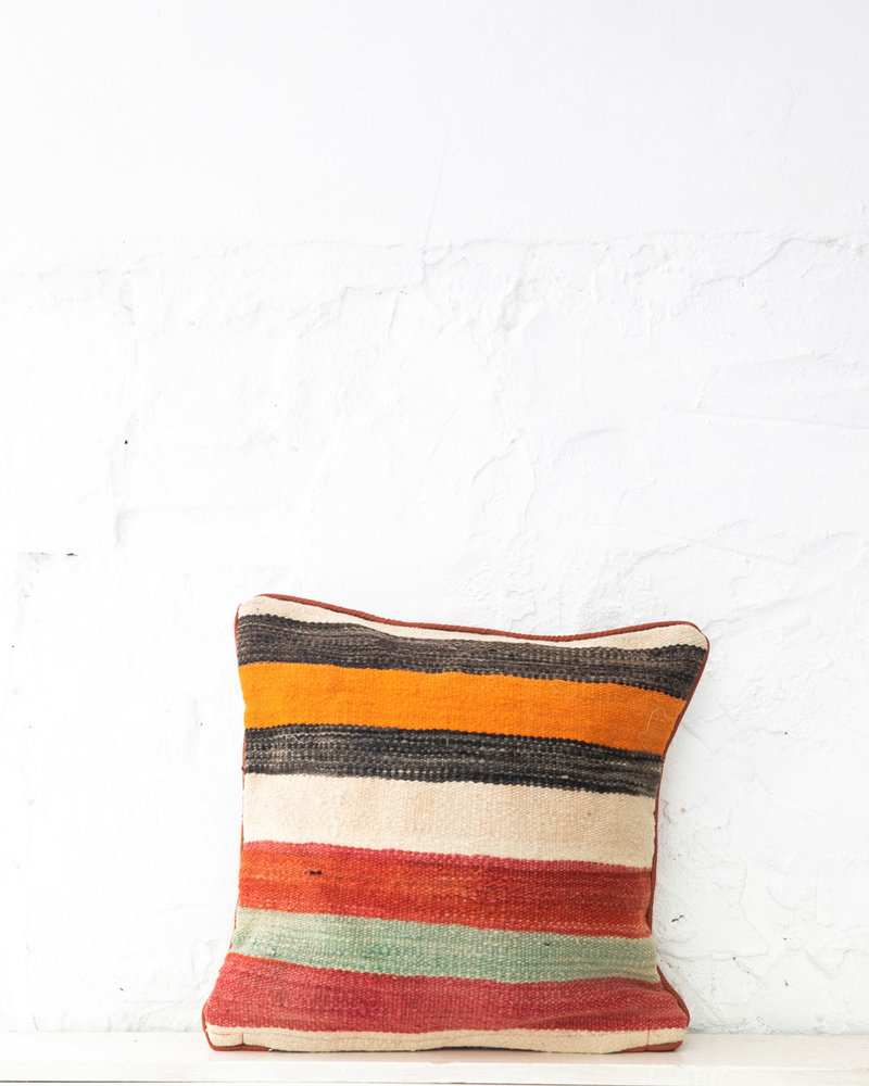Authentic striped Berber pillow from Morocco 410