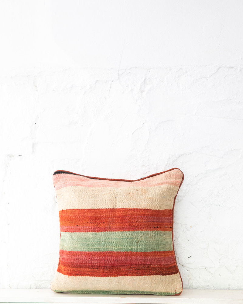 Authentic striped Berber pillow from Morocco 412