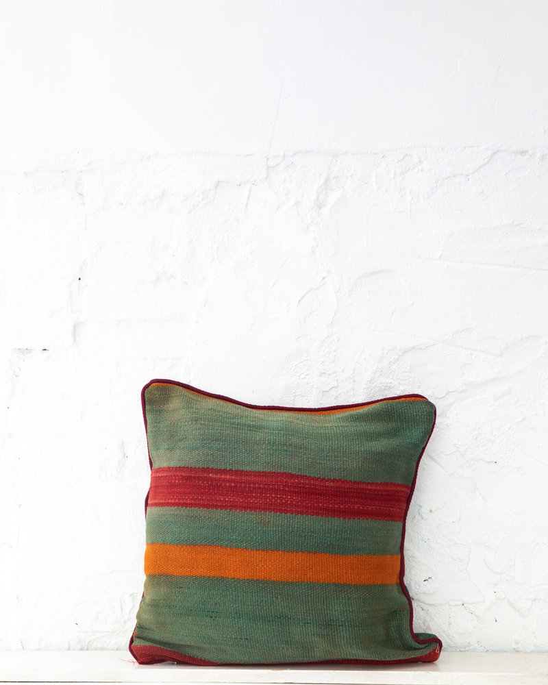 Authentic striped Berber pillow from Morocco 415