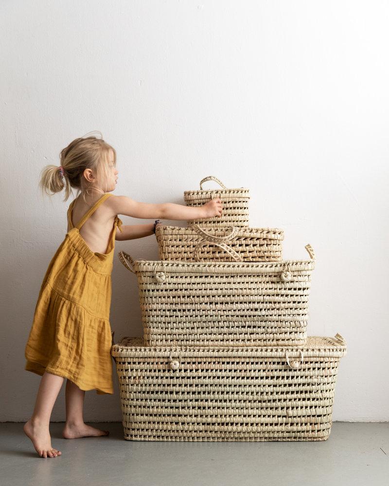 Reed Moroccan basket handmade  - breed - XL