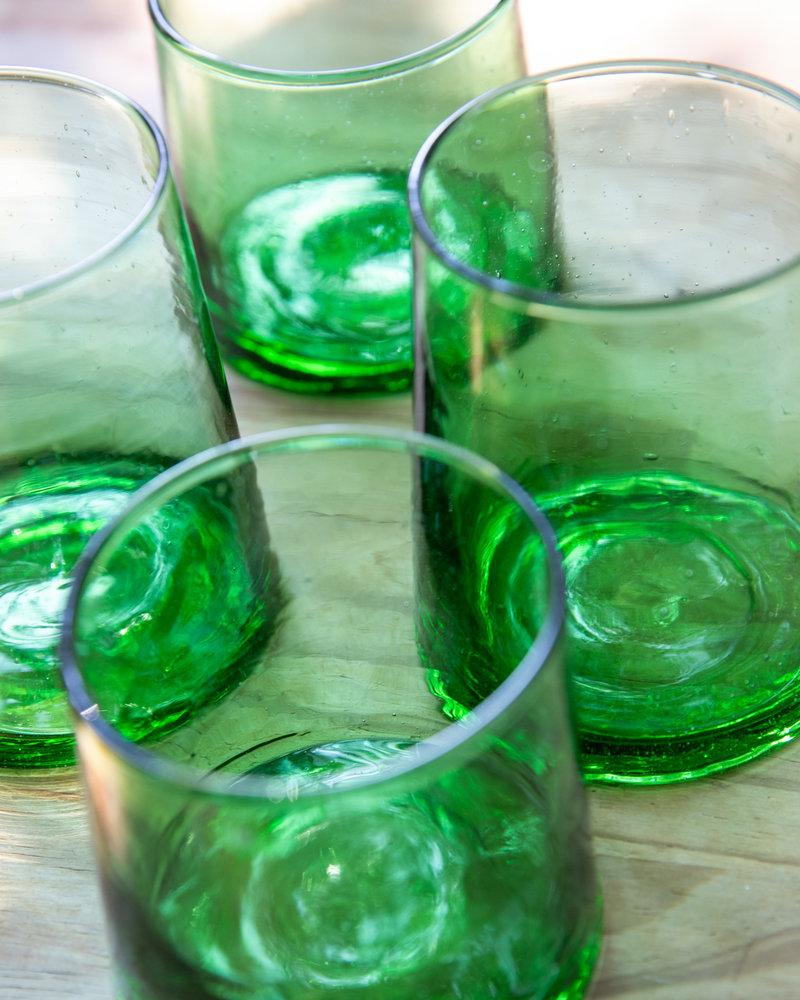 Marokaans gerecycled glas - groen
