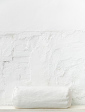 Rolkussen katoen wit