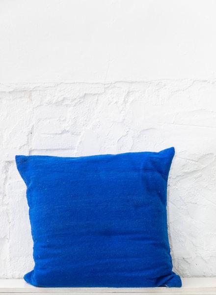 Kussen wol blauw - XL