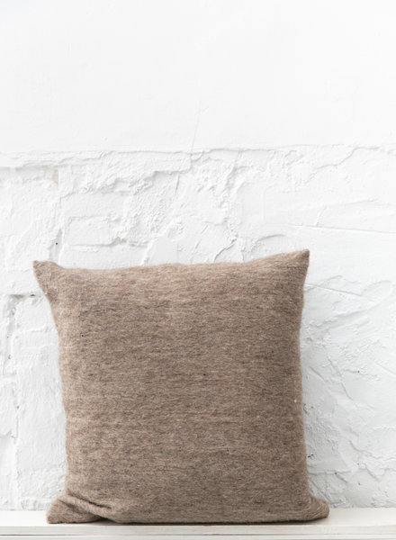 Kussen wol grijsbruin - XL