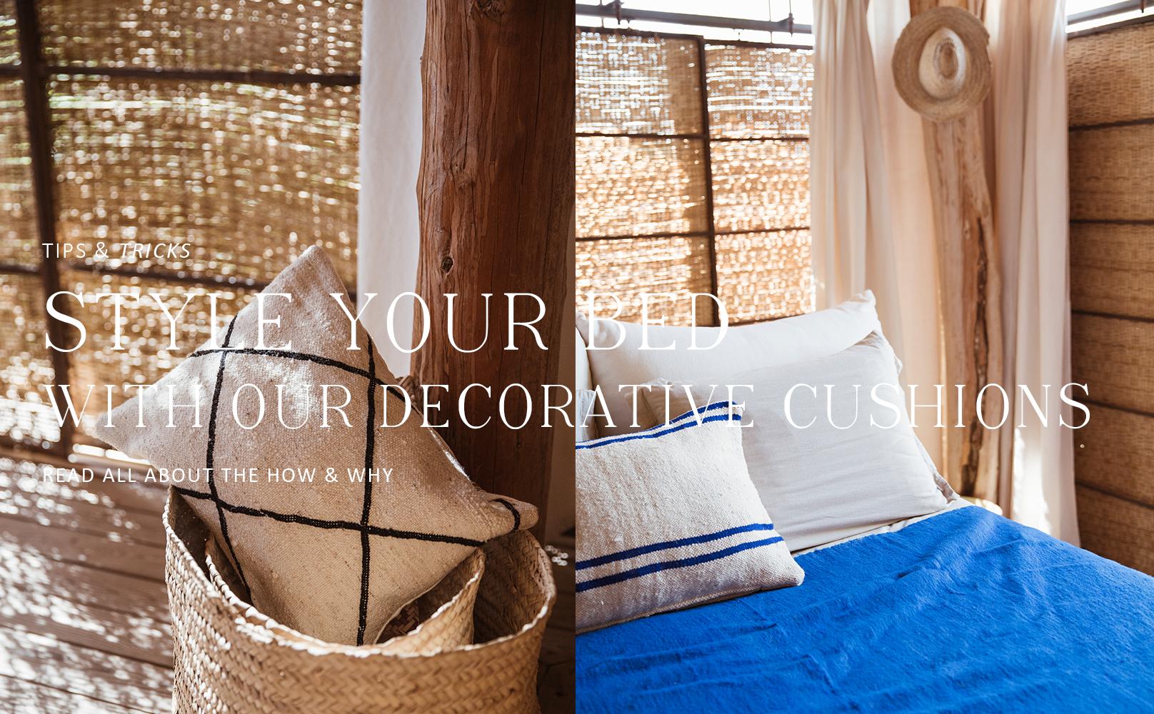 Style je bed met sierkussens
