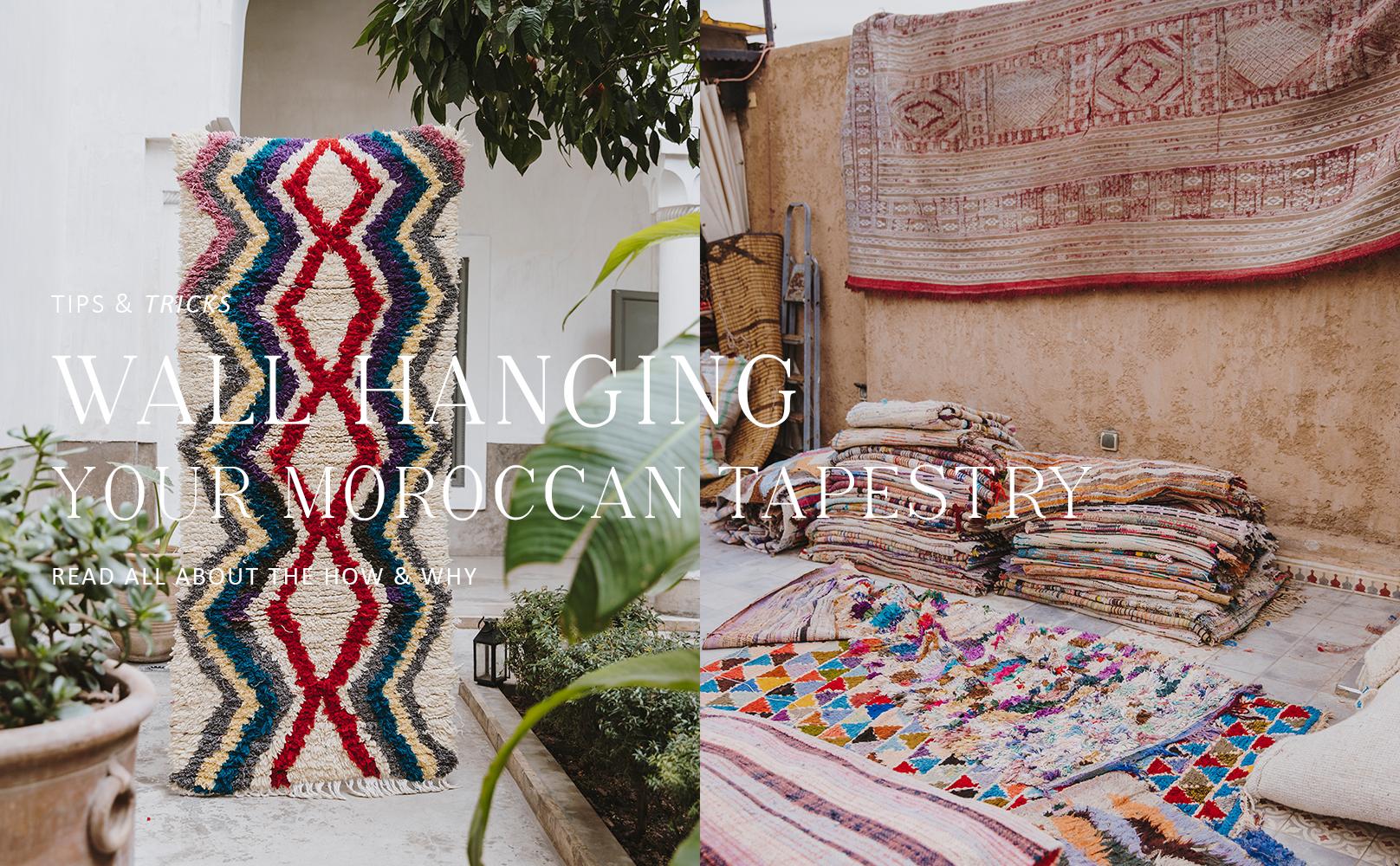 Het Marokkaanse wandkleed