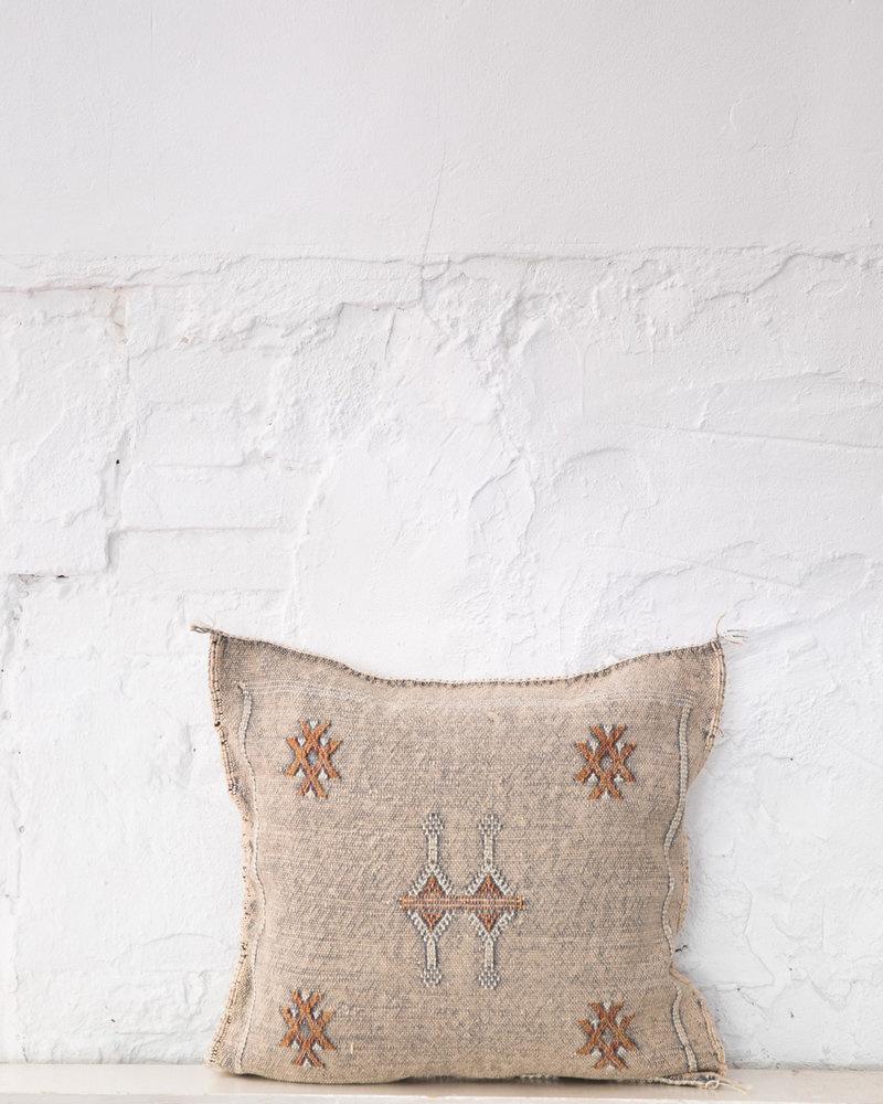 wit patroon sabra silk kussen