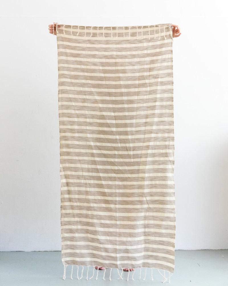 Hammamdoek streep zand off-white (PRE-ORDER)