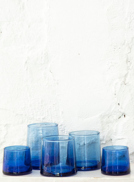 Marokaans glas - blauw