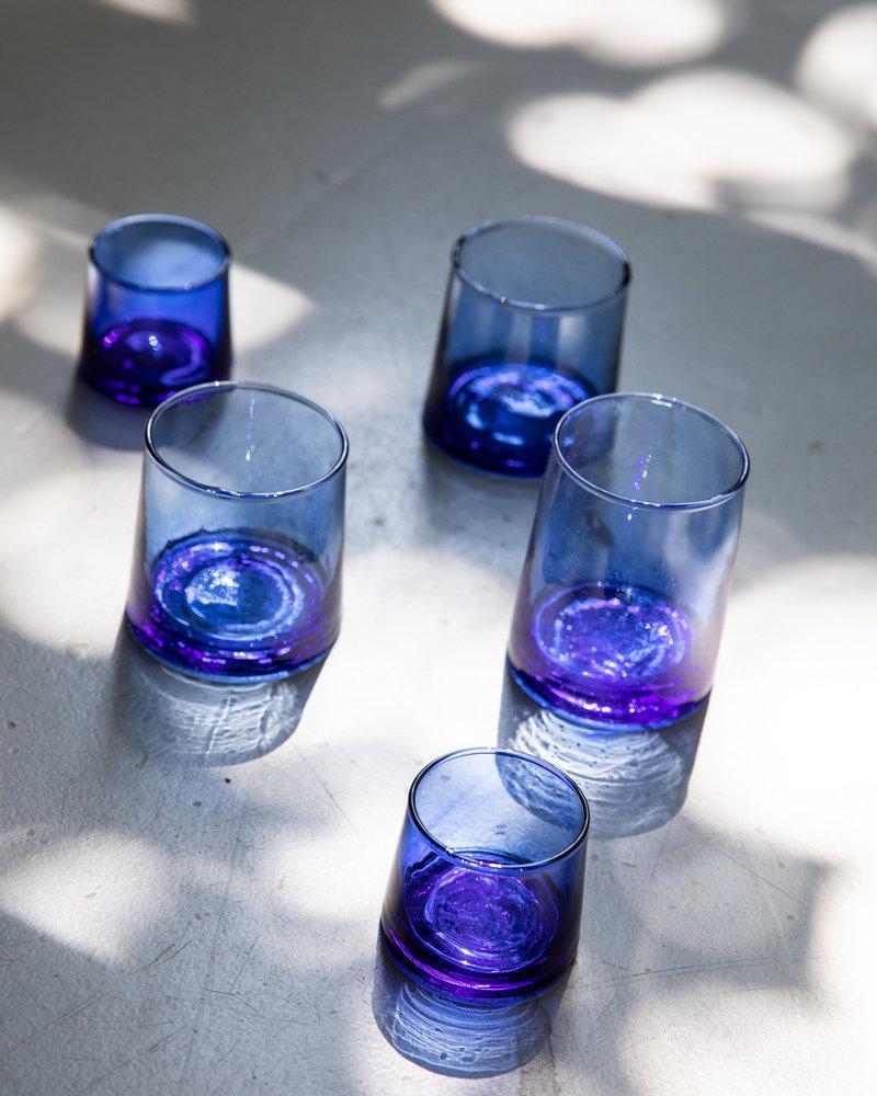Marokaans gerecycled glas - blauw