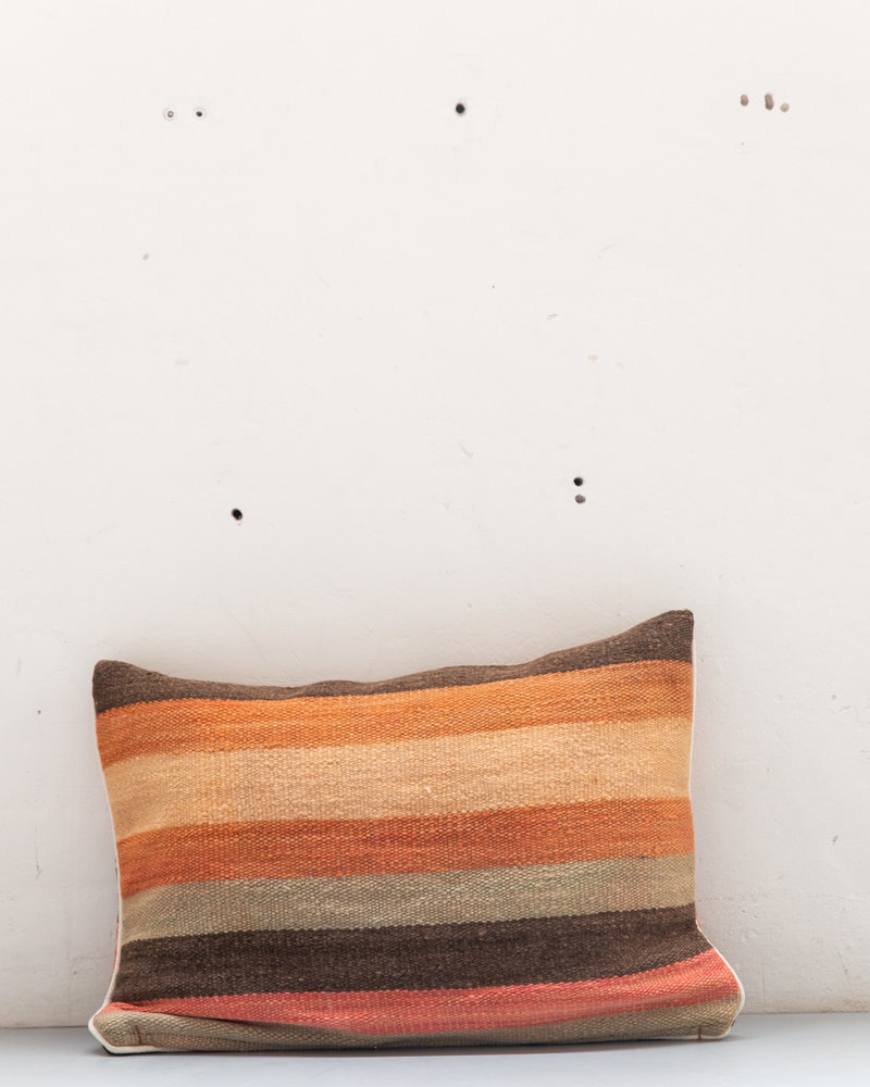 Authentic striped Berber pillow from Morocco XL 494