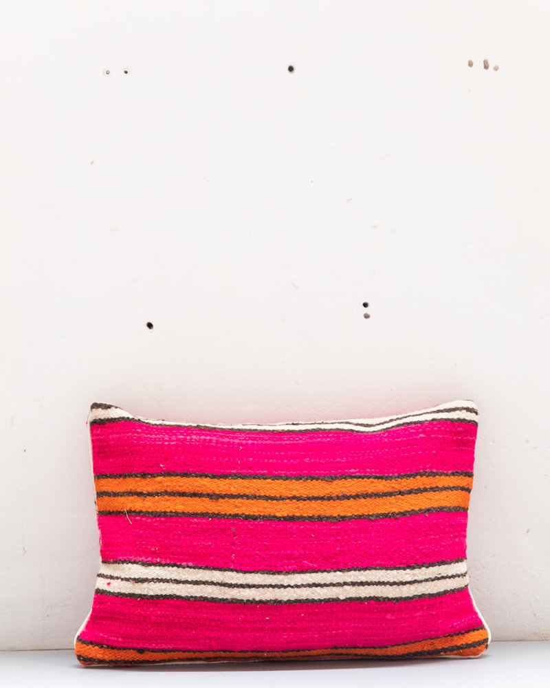 Authentic striped Berber pillow from Morocco XL 487
