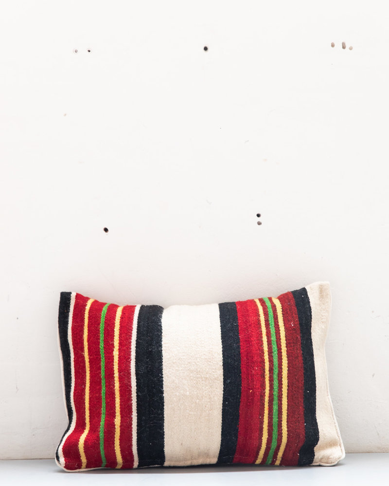 Authentic striped Berber pillow from Morocco XL 484